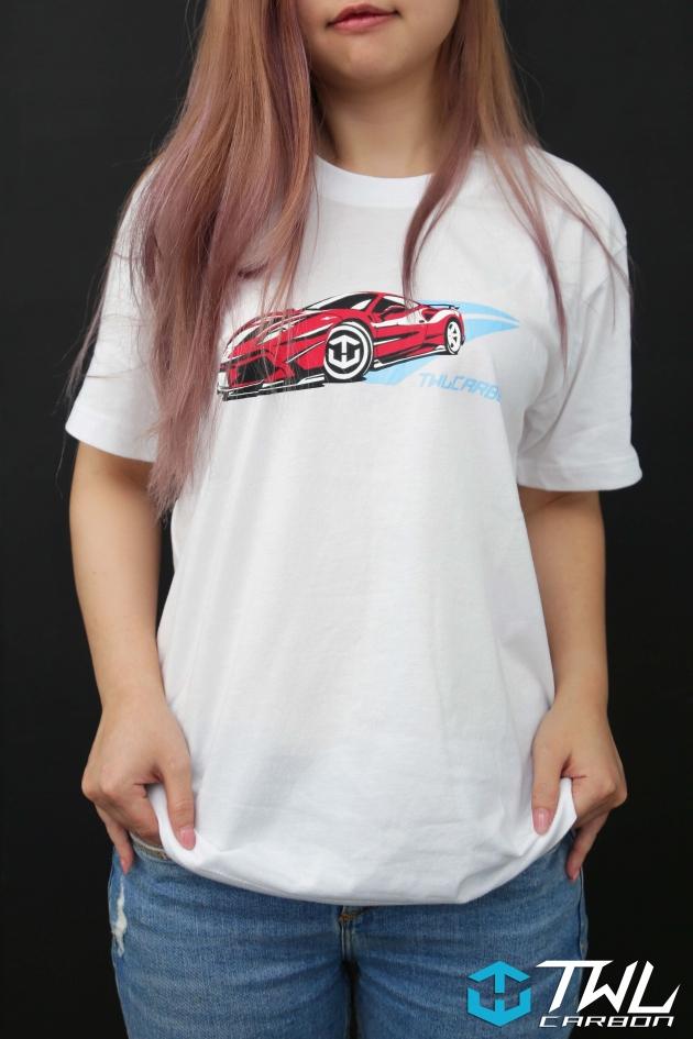 TWLCarbon Ferrari 488 Limited Edition T-shirt (White) 5