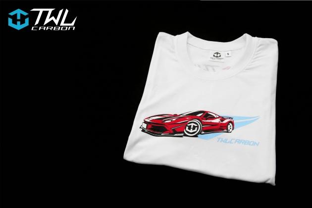 TWLCarbon Ferrari 488 Limited Edition T-shirt (White) 2