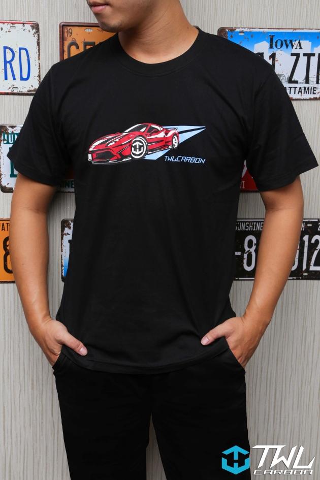 TWLCarbon Ferrari 488 Limited Edition T-shirt (Black) 5